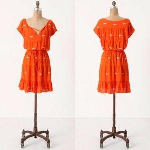 Leifnotes Anthropologie Espejo Orange Dress